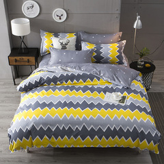NEW Pure Cotton Pack Of 4/Set Duvet Cover Bedsheets Pillowcase Brief Bedding Comforter as picture6*6 as a picture 5*6