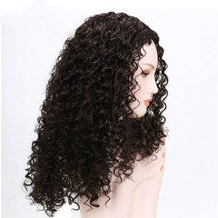 New Fashion Synthetic Curly Weave Peruvian Virgin Hair Kinky Curly Silk black one size