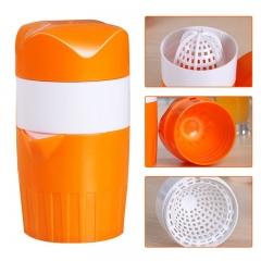 Hand Press Juicer Tool Household Manual Juicer Juice Bottle Mini Travel Small Fruit Squeezer Machine orange 17cm