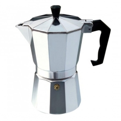 Aluminium Moka Pot Octangle Coffee Maker For Mocha Coffee Italian Coffee silver 3cup