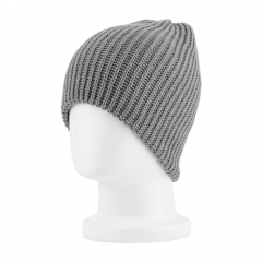 Warm Fashion Men Warm Winter Knit Ski Beanie Slouchy Oversize Cap Hat gray 60cm