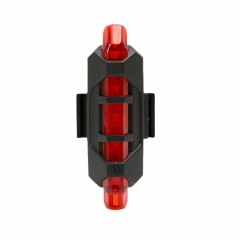 Bicycle LED Signal Light Warning Light Flashlight Rear Tail Light USB Charge RED 85mm