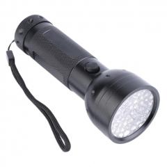 Aluminium 51 LED UV Flashlight Torch Ultra Violet Outdoor Light Torch Lamp black UV LED