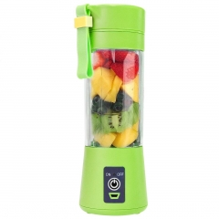 Juicer Cup Portable Blender Fruit Mix Machine Rechargeable Electric Juice Blender and Mixer Green