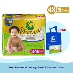 PHOENIX GOLD DIAPER High Count +free wipes 10 pack and bag Green XL ( >12kg)
