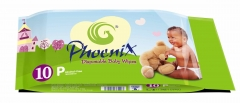 Baby Wipes Green 10 pack x 10