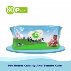 Baby Wipes Green 80 pack x 3