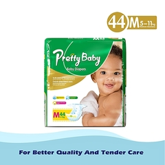 Pretty Baby Disposable Diaper - Green M (5kg-11kg) 44 pieces