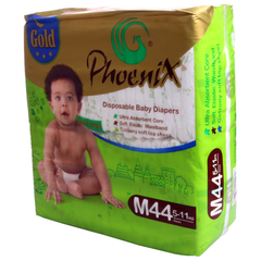 Phoenix Gold Disposable Diaper Green L (8kg-14kg) 40 Pieces