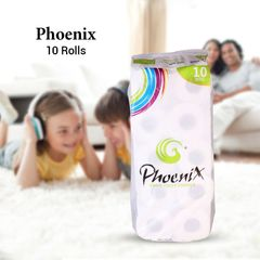 Phoenix Super Soft Bathroom Toilet Tissue 10 Rolls White 10 Rolls