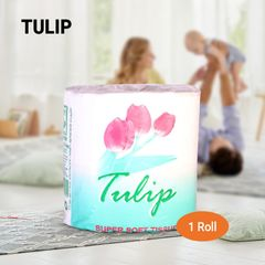 TULIP 2ply White Toilet Tissue -1 roll white 1 roll