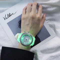 Luminous watch fashion lovers watch white only size