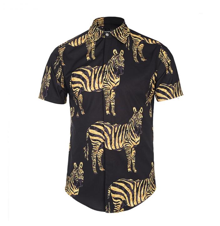 91737e14c782 New men s creative stripes 3D printing shirt street youth tide brand  fashion shirt 05 XXXL