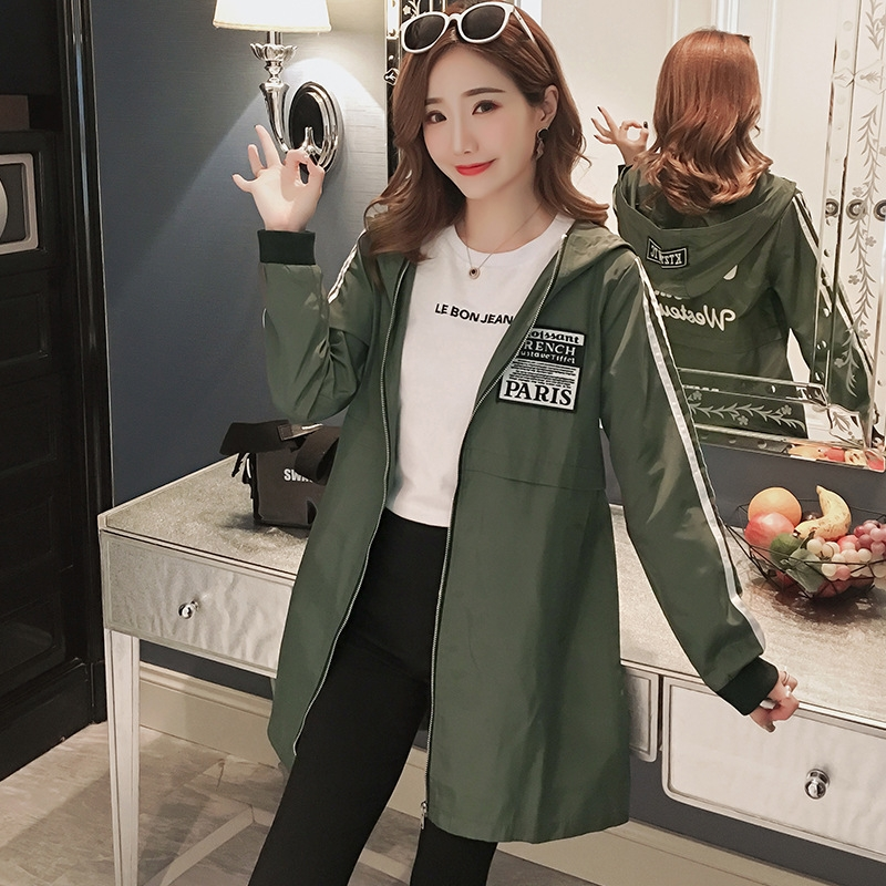 c9e27ec31 Plus Size S-4XL Women's Jacket Sportswear Jerseys Windbreakers Long Sleeve  Hoodies Jacket Coats army green s