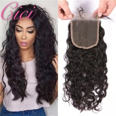 Cici Hair Brazilian Deep 4*4 Closure 100% Human Hair  Natural Color Free Shipping Middle Part 6inch
