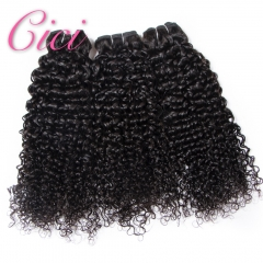 Cici Hair Brazilian Curly Wave Bundles Hair 8-28inchs 100% Human Hair Natural Color nature color 8inch