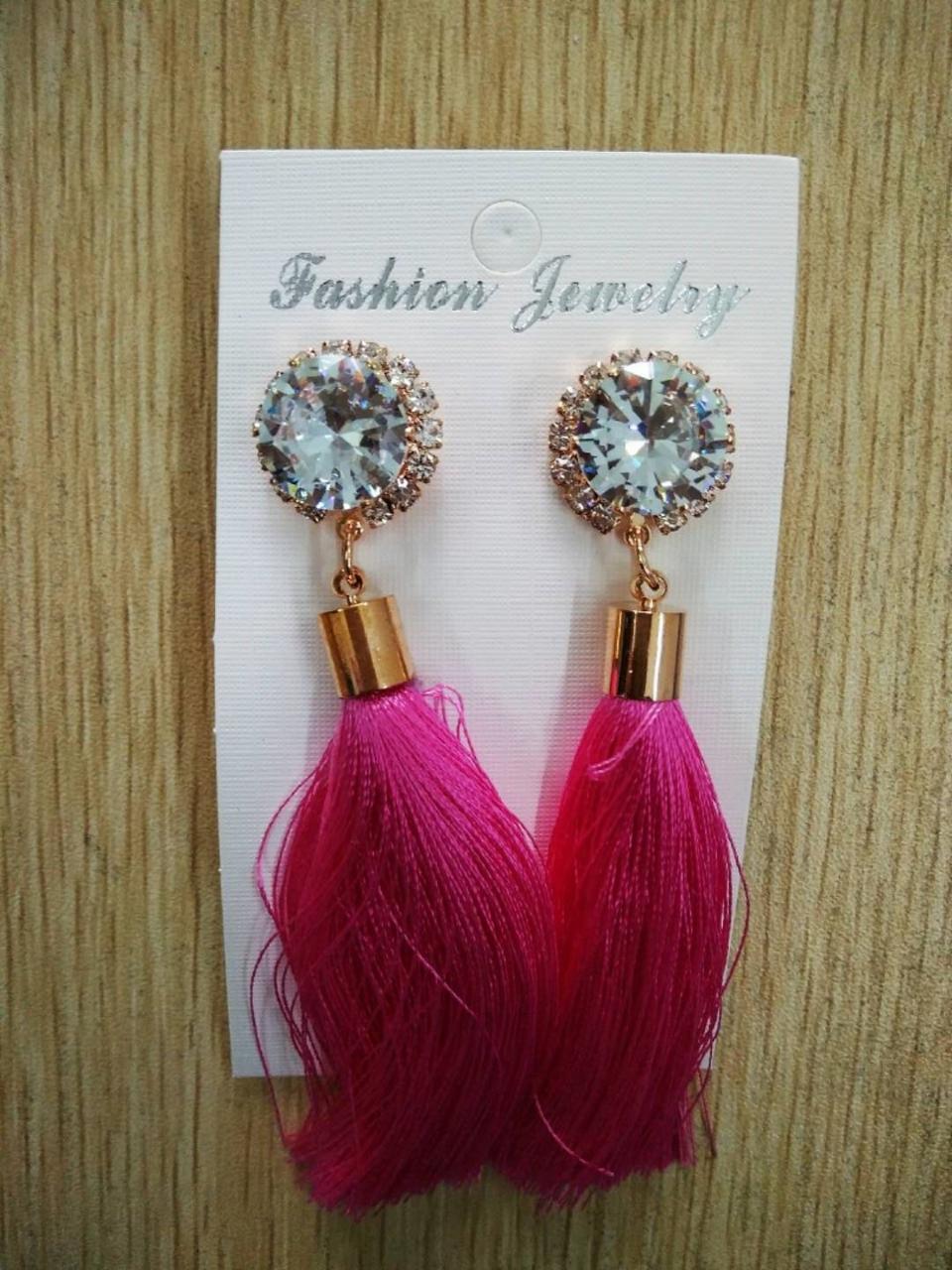 af5b8ca793b 2019 Rhinestone Vintage Fashion Dangle Earring Long Tassel Fringe ...