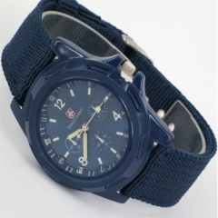 Swiss belt weaving belt military watch, sea, land and air force outdoor sports watch coffee one size