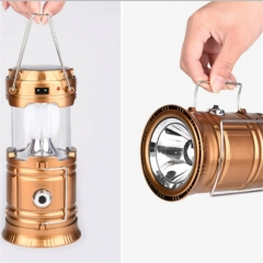 New lantern LED solar lamp outdoor portable emergency lamp Golden One size 10W and 3W