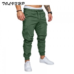 Brand Men's Pants Hahahalun Jogging Pants 2018 Men's Trousers Men's Jogging Pants Multi Pockets green m