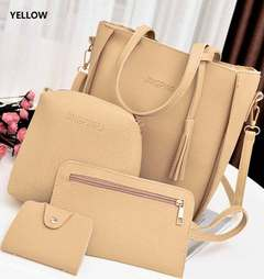Women's bags Handbags Big Capacity Tassel Handbag  mother bag slung shoulder bag PU Leather yellow one size