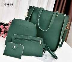 Women's bags Handbags Big Capacity Tassel Handbag  mother bag slung shoulder bag PU Leather Green one size