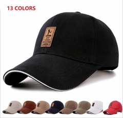 Men's Fashion Accessories the men's baseball cap cotton cap autumn hat outdoor sports hat simple black one size