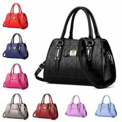 Boston Women's Bags Handbag 2019 Single Shoulder Slant Bag  PU Layered multi-pocket BLACK one size