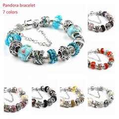Women's Fashion Accessories PANDORA Hand-assembled Glazed Bead Bead Handornaments Crystal 1# 18cm