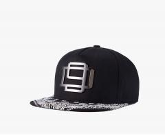 New men and women street fashion personality hip hop hat iron tide cap black average code