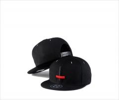 New men and women hip hop flat hat trend street dance hat cross embroidery baseball cap black average code