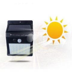 20LED High Brightness Body Sensor Waterproof Solar Wall Light black 20 led