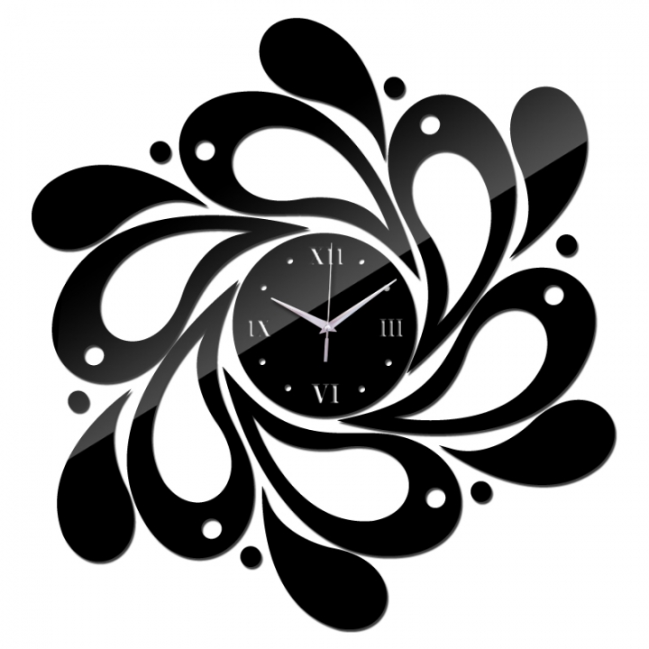 2018 sale of the mirror wall art acrylic watch children watch new modern home decor diy clock black one size