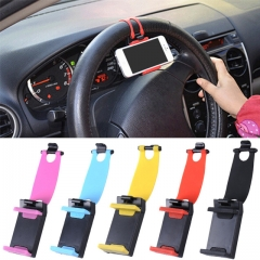 Car Holder Mini Air Vent Steering Wheel Clip Mount Cell Phone Mobile Holder red one size
