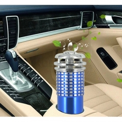 Vehicle Air Purifier Mini Auto Car Fresh Air Anion Ionic Purifier Oxygen Bar Ozone Ionizer blue 12V