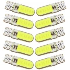 4PCS T10 W5W LED car interior light COB  Signal lamp 12V 194 501 Side Wedge parking bulb white 4 pcs