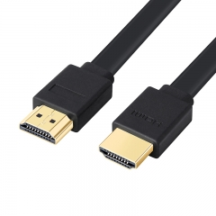 1.5M Gold Plated Plug black Male-Male HDMI Cable 1.4 Version Flat line short 1080p 3D for PS3HDTV