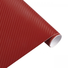 3D Carbon Fiber Vinyl Car Wrap Sheet Roll Film Car stickers and Decals Motorcycle Car Styling red 20cm*127cm