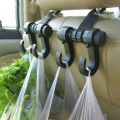Car Seat Back Storage Hook Sundries Hanger Bag Holder Universal Multifunction car hook black as picture