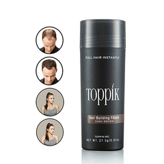 Salon Beauty Makeup fiber 27.5g Toppik Hair Building Fibers Styling Powder Hair Loss Concealer DK brown as picture