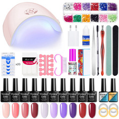 52pcs Full Manicure Set With Lamp Nail Kit 36W UV LED Lamp S6802