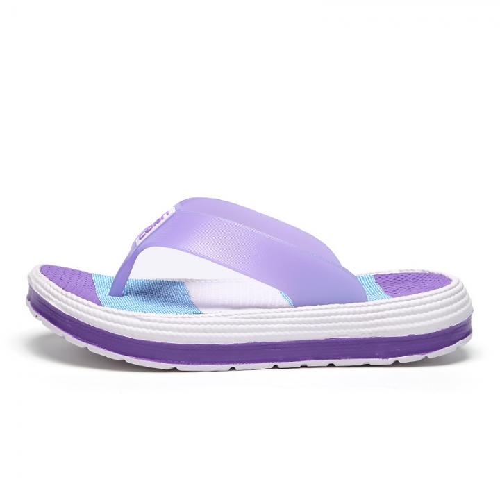 afae3cdf611 Women s Flip-Flops Beach shoes Girl s Soft-soled Platform Sandals  Lightweight slippers purple 37