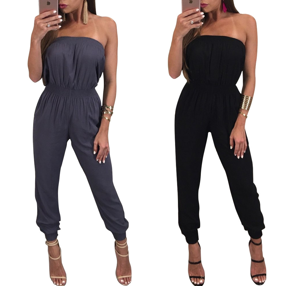 ddd959d46ac MS.MOON Sexy Sleeveless Tube Top Jumpsuit. Slim Fit /Comfortable /Hot