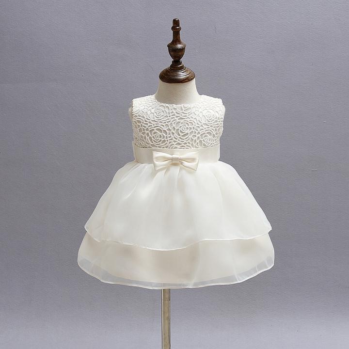 b8125baa582c High Quality Baby pure white Princess Dress Girl Wedding Dress ...