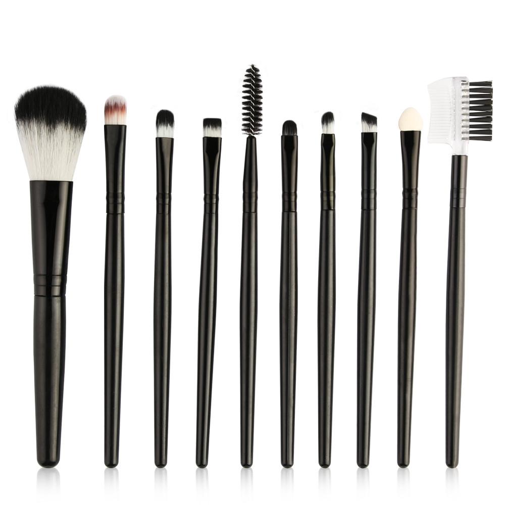 7c083a829c95 10 Pcs Makeup Brushes Professional Makeup Brush Set Beauty Brush Tool  Cosmetics Brush Kit black