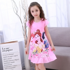 Girl Dress Summer Anna Elsa Sofia Prncess Dress for Girl Teenagers Kid Dress Sleepwear 001 5t