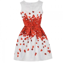 Flower Print Dresses for Girl Weddings Party Dresses  Teen Girl Clothes 001 7t