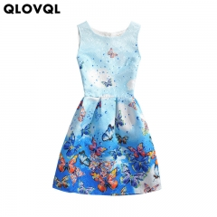 Butterfly Girl Dress Formal Dresses for Teenage Girl Party Dress 5-12 Years Girl Clothes 001 5t