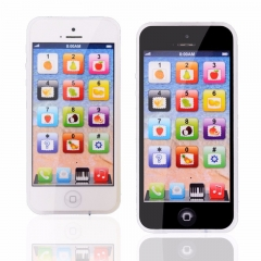Baby YPhone Mobile Educational Toy For Children  Learning Mobile Phone Gift White Black Black 12.5*5.8CM