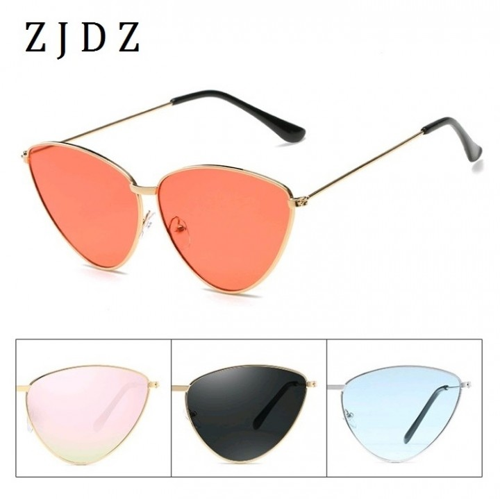 7efdbda71b 2018 New Cat Eye Sunglasses Women Fashion Sun Glasses Ladies Shades Eyewear  Metal Frames UV400 Black